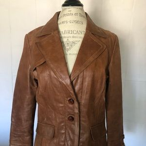 Rogue Women's Button Down Leather Jacket Size Larg